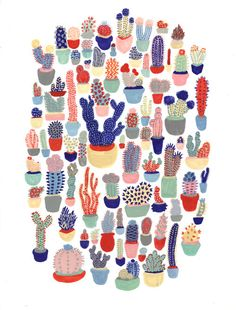 Cactus Club Print by MelindaBoyce on Etsy, $20.00