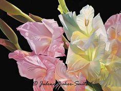 Morning Light Gladiolus flower art print by ArtByJulene on Etsy, $15.00