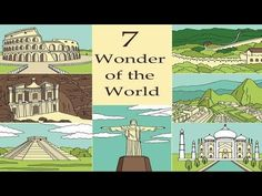 Seven wonder of the world. - YouTube New Seven Wonders, Wonders Of The World, Royalty Free Images, Taj Mahal, Places To Visit, Clip Art, Illustration, Youtube, Travel
