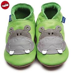 InchBlue Inch Blue Krabbelschuhe Leder, *Hippo* grün, 12 bis 18 Monate - Kinder sneaker und lauflernschuhe (*Partner-Link)