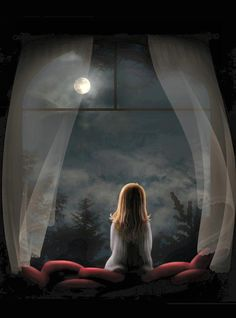 full moon magic- this was me when I was a child, and still is.