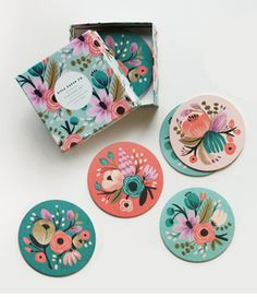 Rifle Paper Co. floral coasters