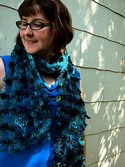 Combine one ball of mohair or other laceweight yarn with a ball of bulky yarn or ribbon to create this scribbly shawl. I made my original Fiesta Scribble Shawl with Giotto (ribbon) and mohair, then did a second version with the One Zero- I love them both. It's fun project that makes a great gift.