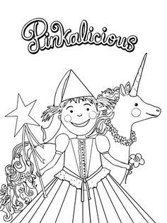 Pinkalicious coloring page