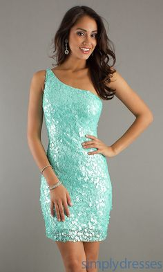 Sequin Cocktail Dress, Scala One Shoulder Dress - Simply Dresses