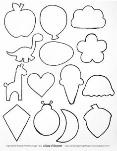 alphabet shapes pattern free printable