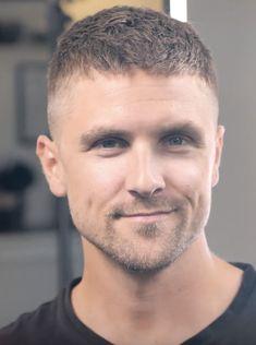 Men's Crew Cut, Crew Cuts, Taper Fade Haircut, Mustache Men, Buzz Cuts, Haircuts For Men, Short Hair Styles, Hair Cuts, Menswear
