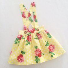 Yellow Dots Rosies Suspender
