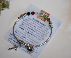 Swarovski Crystal Salvation Rainbow Bracelet by oldsmarbeads on Etsy