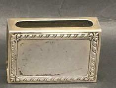 Antique Sterling Silver Match Box Sleeve by Fraservalleyjewels