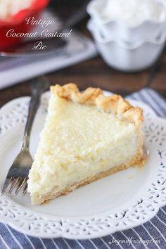 Old Fashioned Coconut Custard Pie