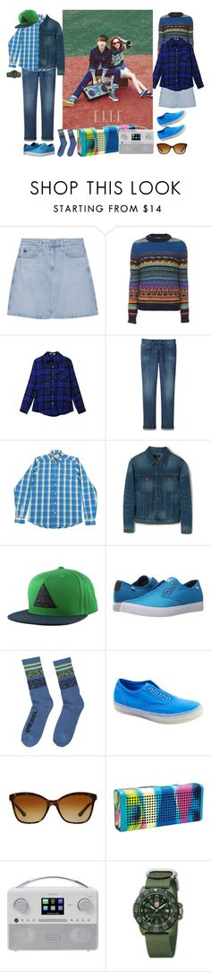 """""""Plaid Couple K-pop"""" by dhitabella ❤ liked on Polyvore featuring AG Adriano Goldschmied, Candela, Uniqlo, MANGO MAN, Neff, Quiksilver, Diesel, Starry Eyed, Bulgari and Nixon"""
