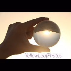 Glass ball. Sunset