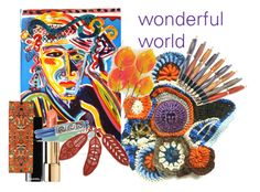 """""""wonderfulworld"""" by shelikesthis ❤ liked on Polyvore featuring art, integrityTT and EtsySpecialT"""