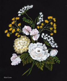 One stroke flowers. Hazel Lynn.