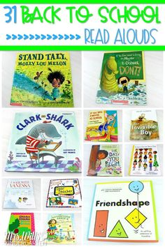 31 back to school books for primary grades. Share these great read alouds with your students during the first few weeks of school. Without a doubt, these are some of my favorite books to read at the beginning of the school year! #backtoschoolbooks #backtoschoolreadalouds