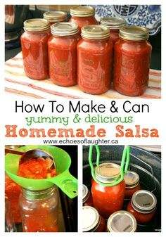 How To Make & Can Salsa! Easy & Delicious! If you have always wanted to try a canning project...this is a great first project to try!