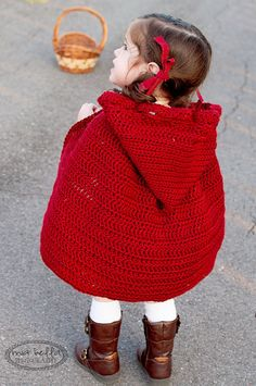 Baby Girl Little Red Riding Hood Costume por ChiclyHooked en Etsy