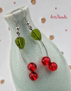 Handcrafted Artisan Jewelry and Accessories - Every piece is handcrafted in my home studio with an emphasis on color, quality, uniqueness and statement. Etsy Handmade, Handmade Items, Handmade Jewelry, Cherry Earrings, Red Aesthetic, Toe Rings, Make And Sell, Artisan Jewelry, Body Jewelry