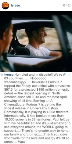 IG post by Tyrese April 2015