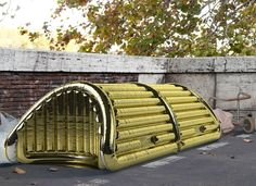 Pro.tetto: Now in the prototyping phase, the inflatable, self-bearing shelter conceived by Andrea Paroli for cold-weather emergencies has great potential