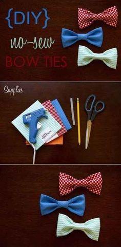 Quem não ama uma gravata-borboleta colorida? | 41 reformas de roupas incrivelmente fáceis e sem costura que você pode fazer em casa