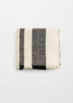 Écharpe bicolore à carreaux - Femme   MANGO Belgique 44cd56de7ce