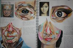 An Art sketchbook page by Lucy Luu. a level art sketchbook ideas - artist researcha level art sketchbook page, beautiful in its simplicity: devoid of superfluous decoration, a dedicated and committed student learning a technique from an artist and th Arte Gcse, Kunst Portfolio, Illustration Arte, Art Illustrations, Medical Illustration, Art Et Architecture, Gcse Art Sketchbook, A Level Art Sketchbook Layout, Sketchbook Inspiration