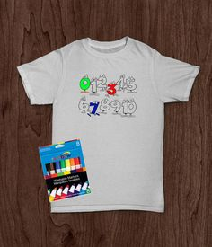 e796f7f56 Items similar to Customized T Shirt, Toddler Boy/Toddler Girl Shirt,  Coloring Book Shirt, Artist, Counting Numbers, Washable Markers, Kids  Birthday Gifts, ...