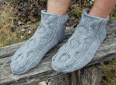 cable knit slipper socks for men