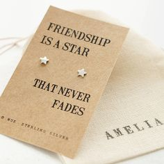 These charming little studs.   26 Perfect Little Gifts For Best Friends