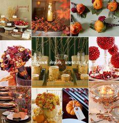 Свадьба осенью: идеи для осенней свадьбы | Звездный дождь