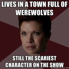 """Still my favorite meme of me :)  (and my first meme, btw.)  Thanks for posting!  """"Victoria Argent the scariest TV mom"""""""