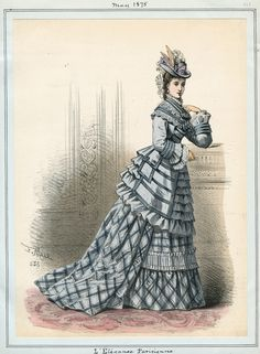 Casey Fashion Plates Detail | Los Angeles Public Library L'Elegance Parisienne Date: Saturday, May 1, 1875