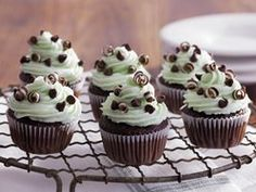 Mint Chocolate Chip Mini Cakes