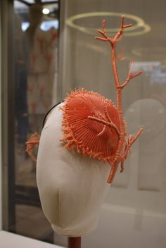 [Corallium rubrum : precious coral] - Stephen Jones millinery 2013