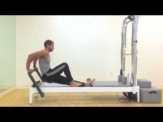 Joseph Pilates reformer workout for men, by Matthew on the Allegro 2 - YouTube