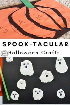 Easy and cool Halloween craft ideas that are perfect for those little toddlers and preschoolers of yours, as well as older children. Don't you just love crafts that can work for all ages? Halloween Science, Halloween Crafts For Toddlers, Crafts For Kids To Make, Toddler Preschool, Toddler Crafts, Preschool Crafts, Easy Arts And Crafts, Arts And Crafts Projects, Wacky Wednesday