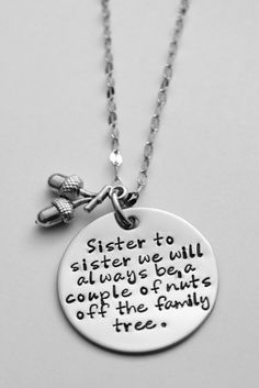 Sister Necklace Sister to sister we will by LauriginalDesigns