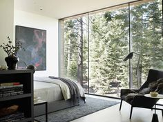 Modernist refuge of stone, wood, steel and glass in Martis Camp