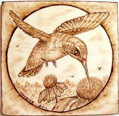 """Very Detailed pyrography 