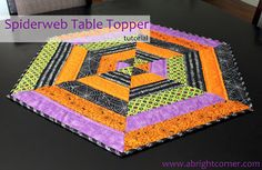 Tutorial for a Spider Web table topper from A Bright Corner
