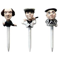 Three Stooges Golf Tees (Set of 3) at HomeTeamGolf.com