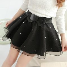 Women Tutu Pleated Organza Bow Knot Umbrella Skirt Bust Lei Mesh Gauze Mini Tulle White Black Skirts