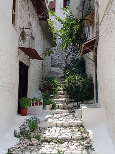 Narrow Alleys In Old Town of Berat, Albania