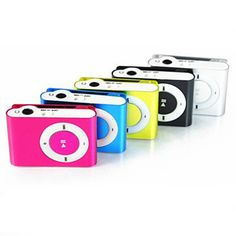 Hot Selling Portable Metal Clip MP3 Player with 8 Candy Colors No Memory Card Music Player with TF Slot #Affiliate