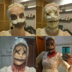 #scarecrow makeup process