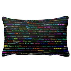 Karen Text Design I Lumbar Pillow