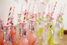 Baby Shower Idea for Drinks - Personalized Labels Add a Special Touch Too!