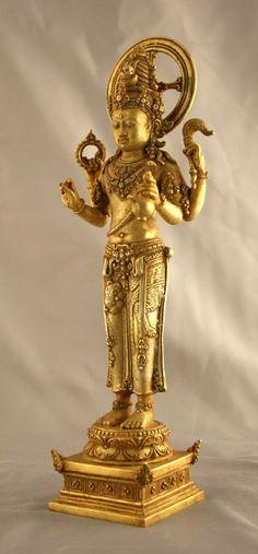 Indonesian Gold Sculpture of Shiva